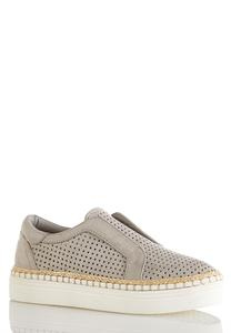 Perforated Roped Platform Sneakers