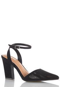 Wide Width Cutout Ankle Strap Heels