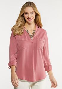 Plus Size Relaxed Pocket Top