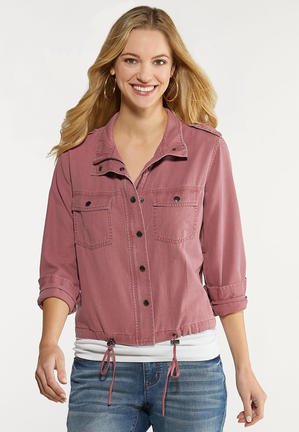 Plus Size Rose Utility Jacket