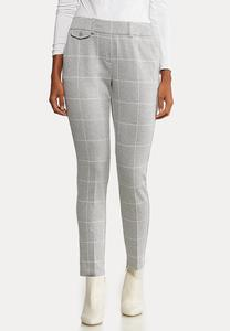 Petite Plaid Knit Pants