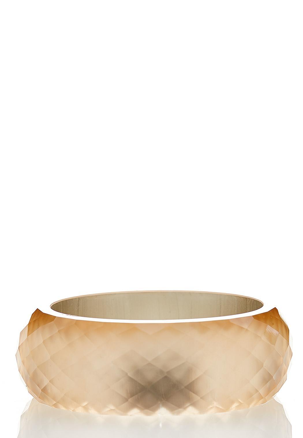 Faceted Acrylic Bangle Bracelet