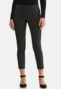 Pinstripe Ankle Pants