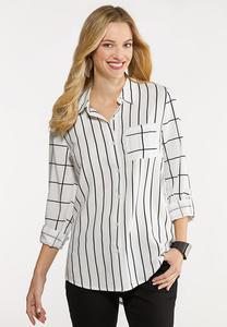 Plus Size Mixed Stripe Tunic