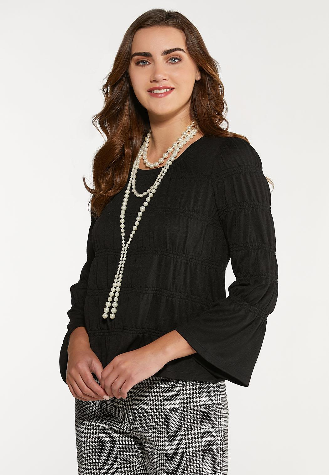 Plus Size Smocked Knit Top