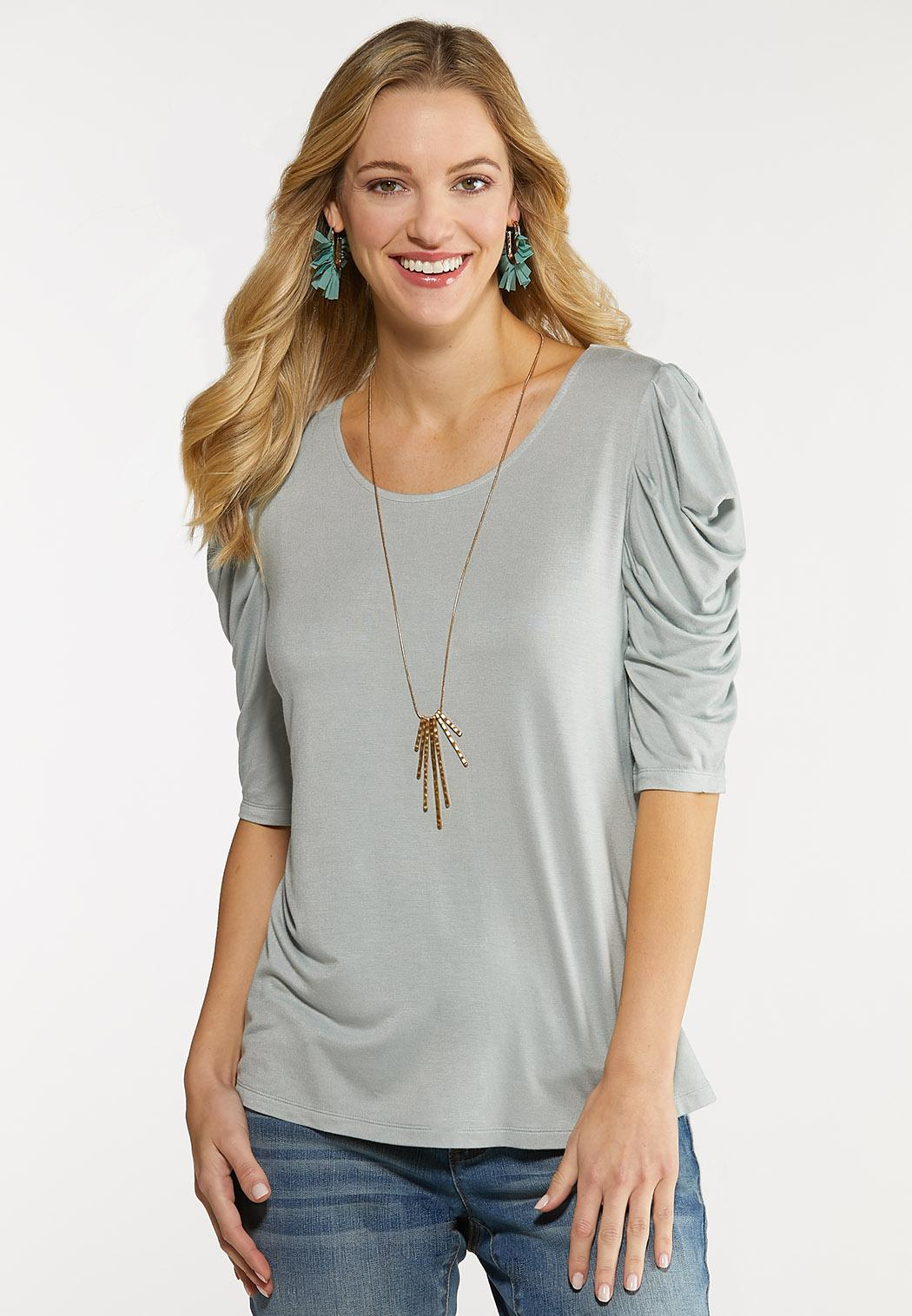 Plus Size Draped Cold Shoulder Tee