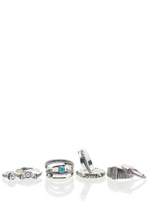 Antique Silver Ring Set