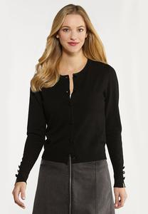 Plus Size Essential Black Cardigan