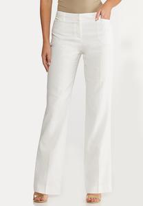 White Linen Trouser Pants
