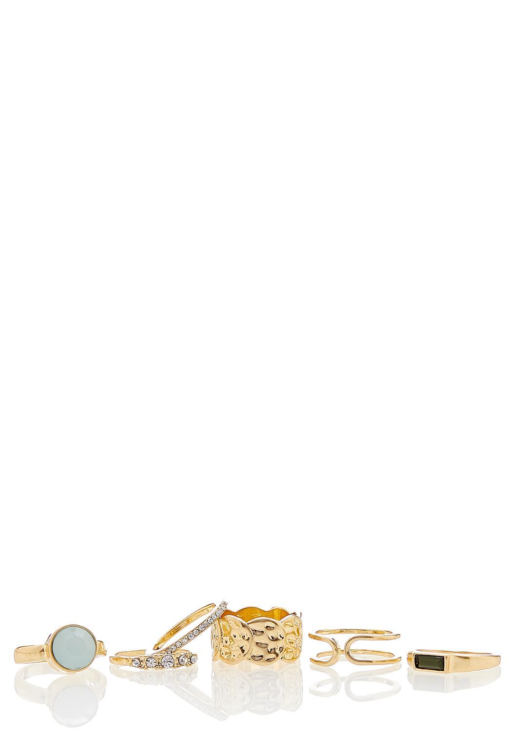 Worn Gold Ring Set