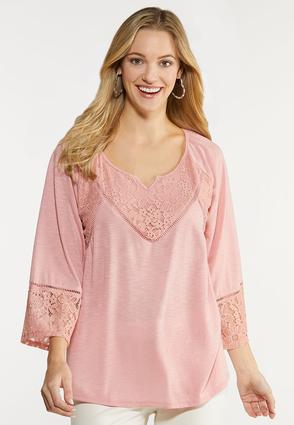 Bell Sleeve Lacy Top