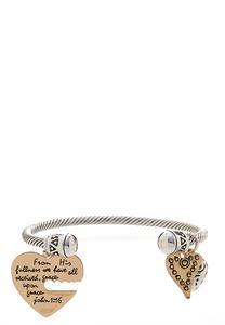 John Scripture Charm Cuff Bracelet