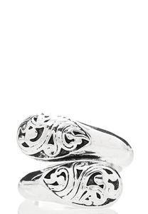 Etched Silver Wrap Ring