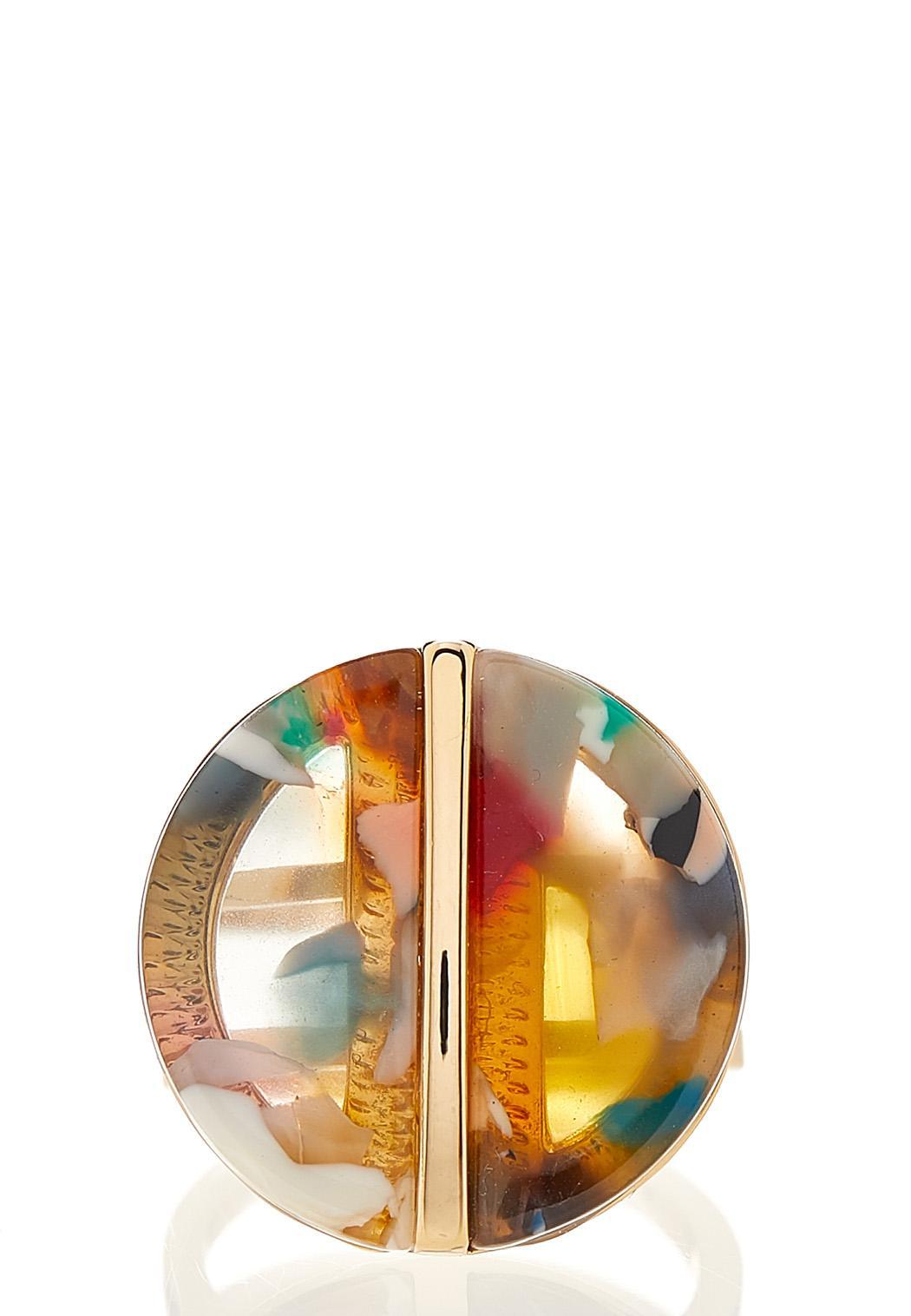 Multi Colored Lucite Ring