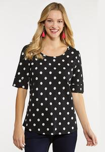 Plus Size Polka Dotted Top