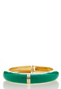 Enamel Hinge Cuff Bracelet