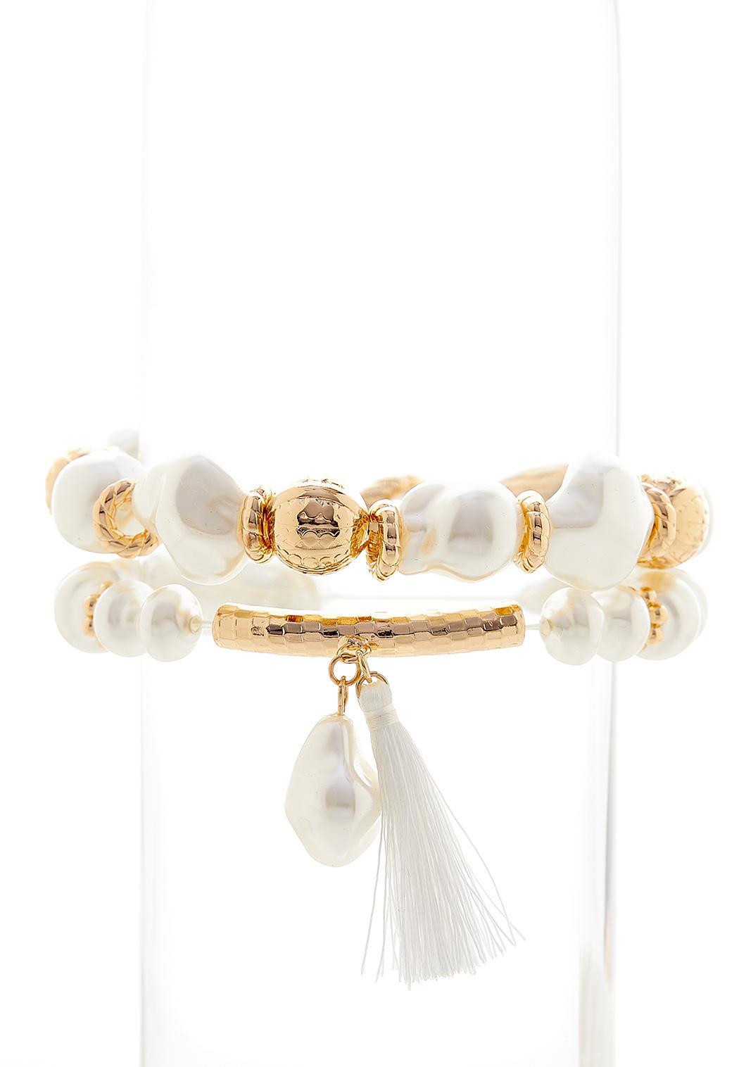 Tassel Pearl Stretch Bracelet