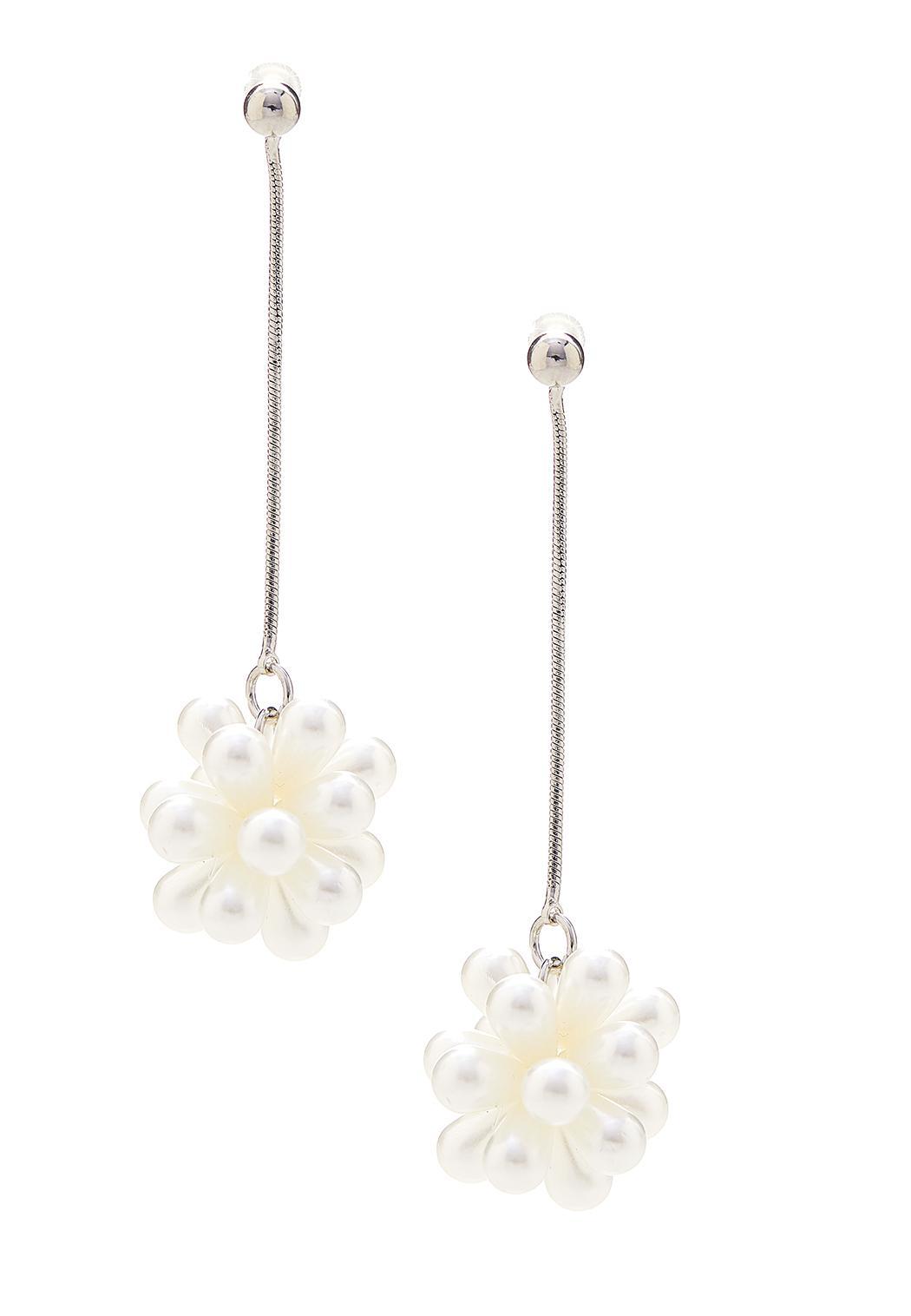 Linear Cluster Pearl Earrings