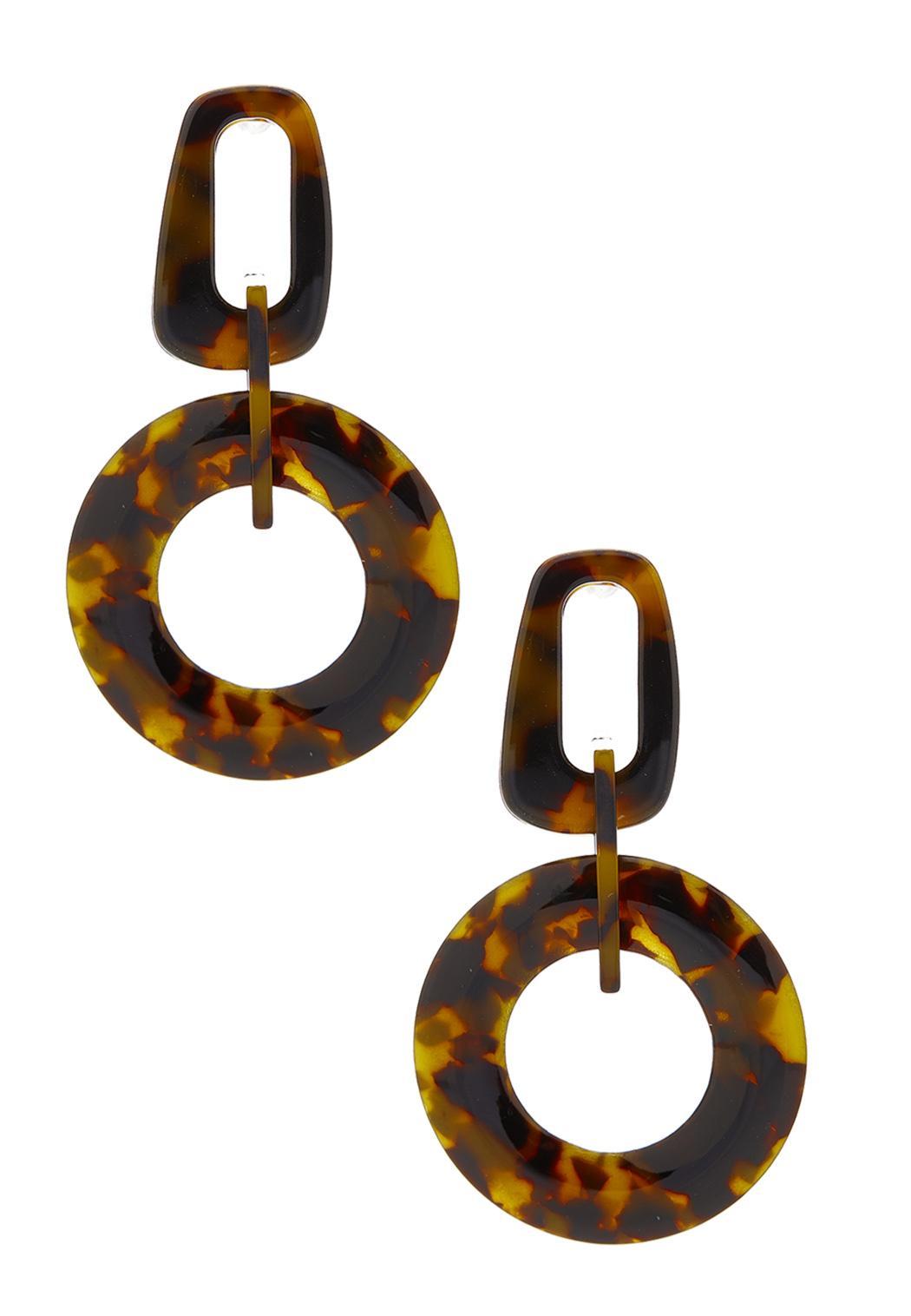 Geo Tortoise Earrings