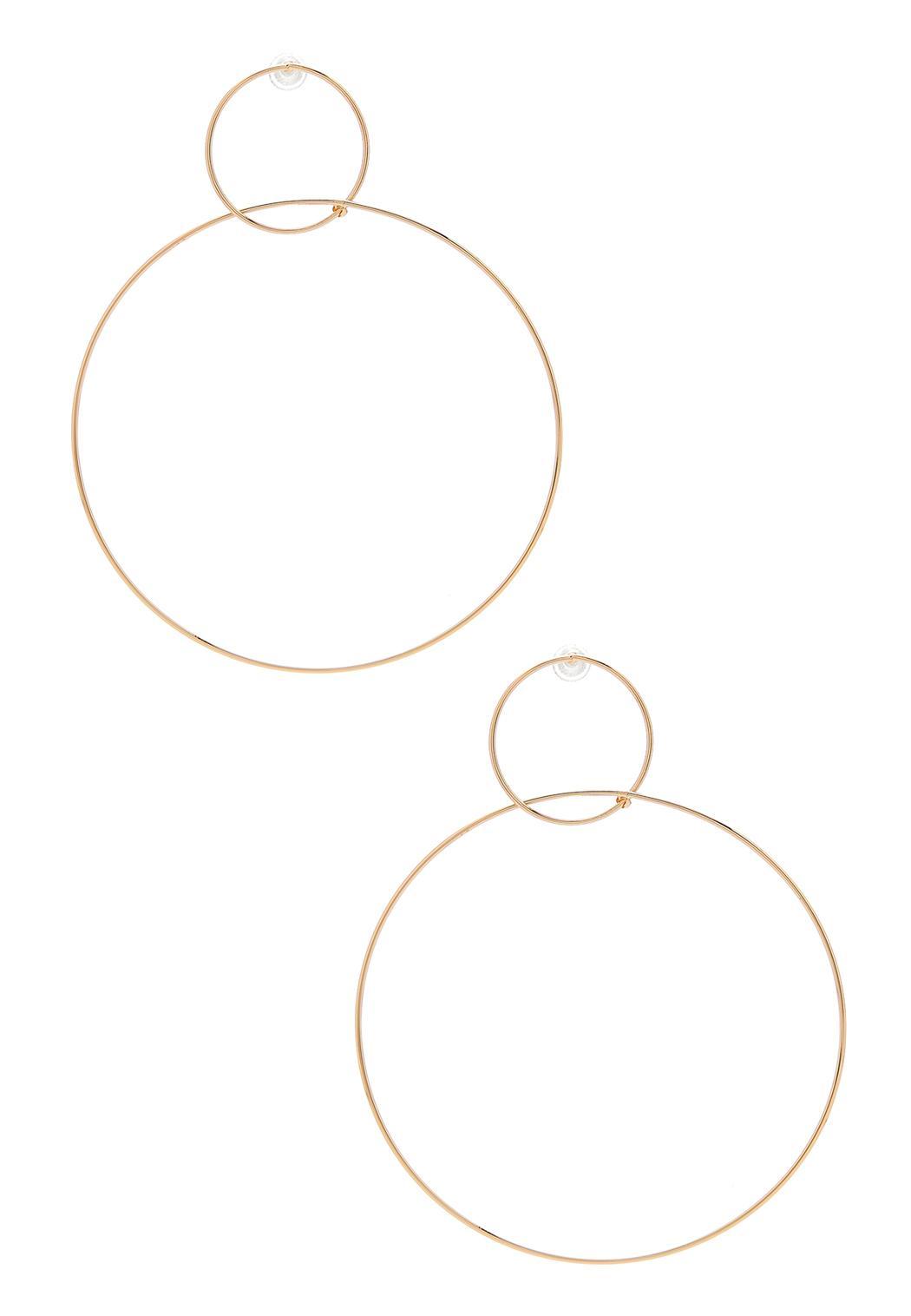 Delicate Linked Hoop Earrings