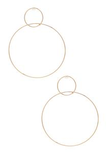 Delicate Linked Hoop Earrings