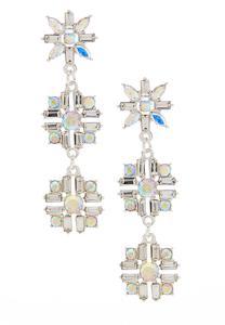 Iridescent Linear Burst Earrings