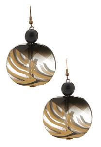 Beaded Tiger Stripe Earrings