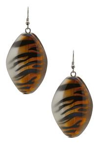Zebra Stripe Statement Earrings