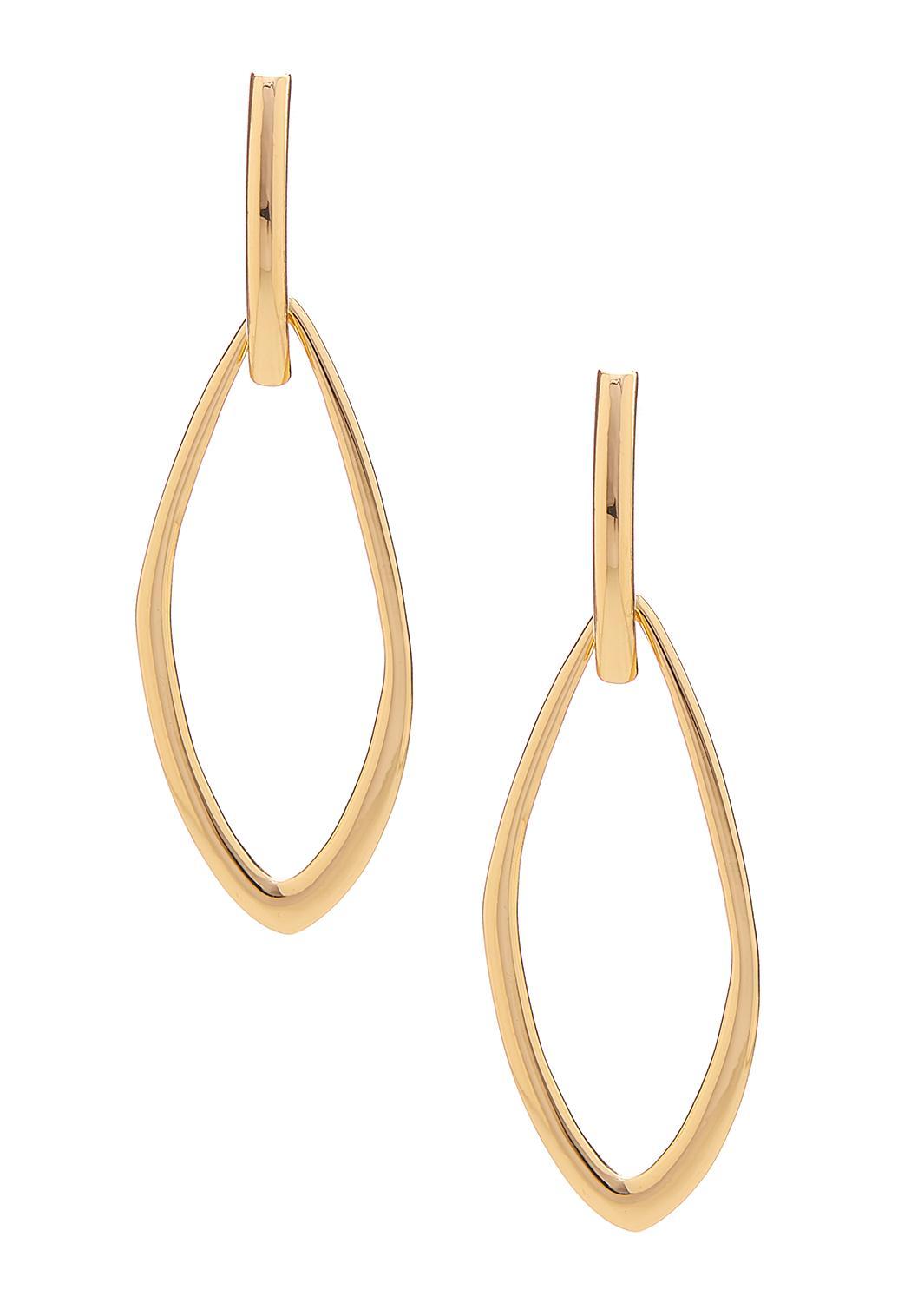 Mod Gold Door Knocker Earrings