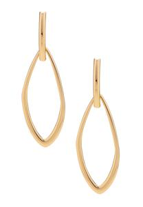 Mod Gold Door Knocker Earrings