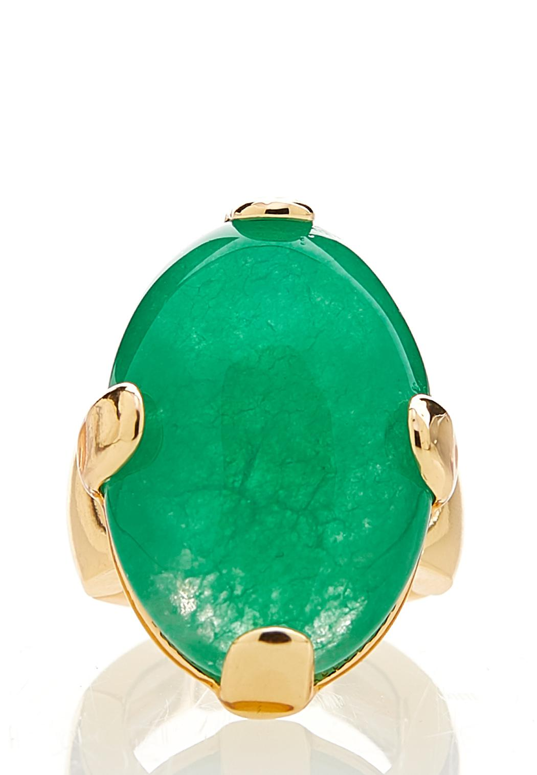 Oval Stone Stretch Ring