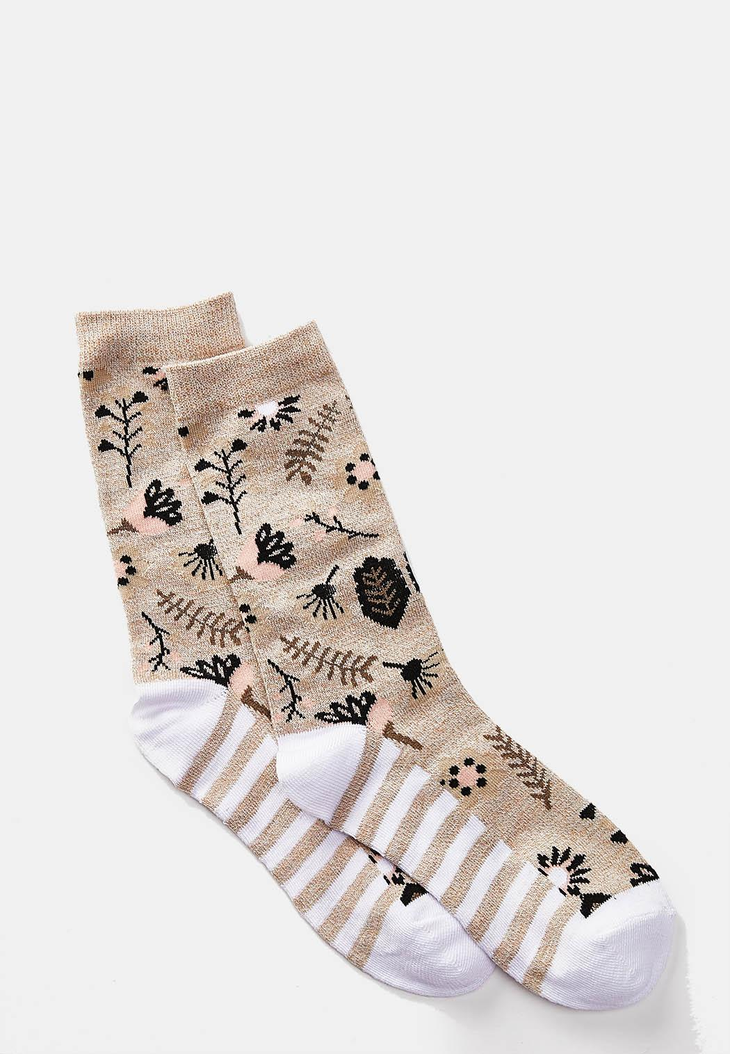 Abstract Floral Socks