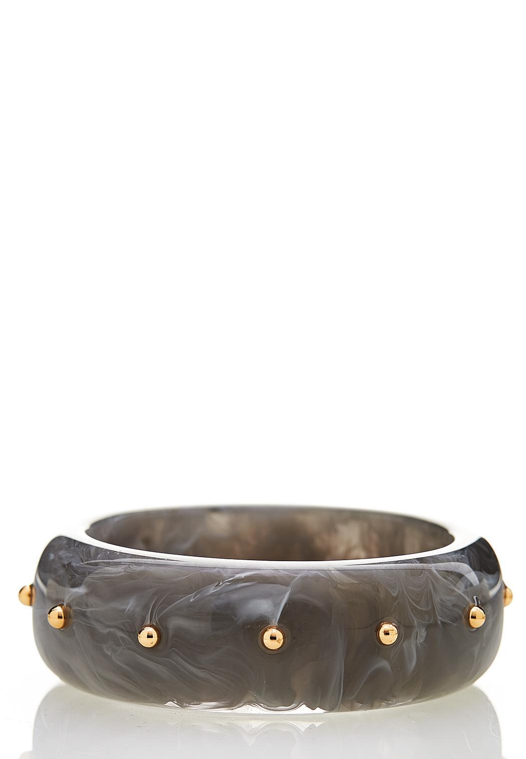 Marble Stud Bangle Bracelet