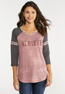 Plus Size Achieve Baseball Top