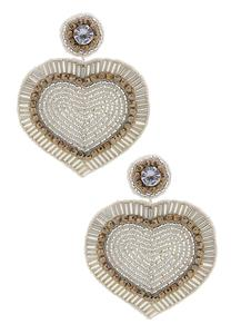 Embellished Heart Earrings