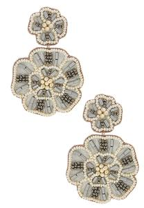 Embellished Flower Earrings