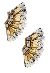 Metallic Metal Wing Earrings