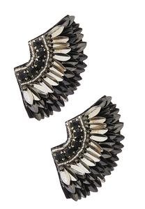 Mixed Metal Wing Earrings