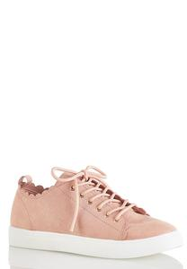 Scalloped Trim Sneakers