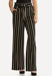Rodeo Stripe Paperbag Pants
