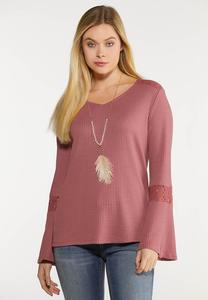 Thermal Bell Sleeve Top