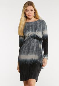 Plus Size Ombre Faux Wrap Dress