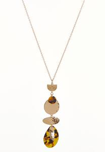 Tort Metal Mix Pendant Necklace