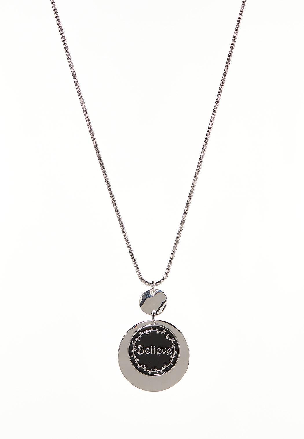 Believe Circle Pendant Necklace