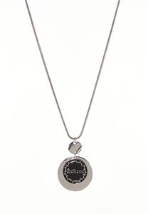 Believe Circle Pendant Necklace