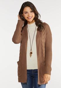 Plus Size Hoodie Cardigan Sweater