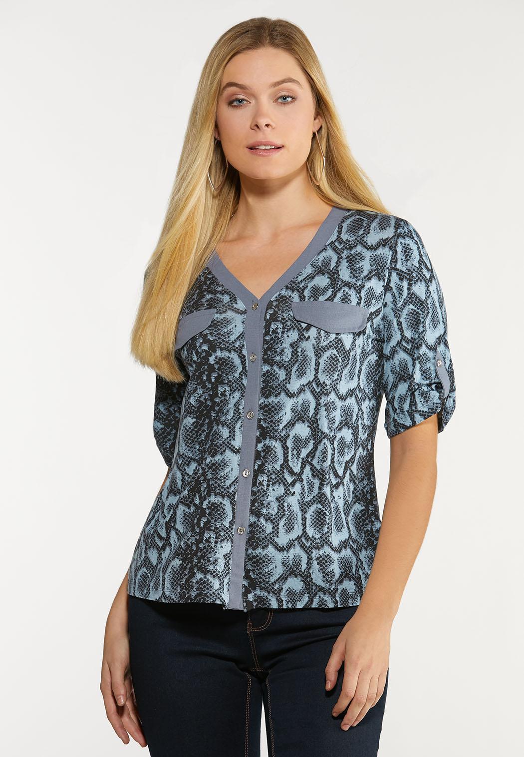 Plus Size Shady Snake Utility Shirt