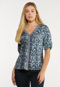 Plus Size Shady Snake Utility Shirt
