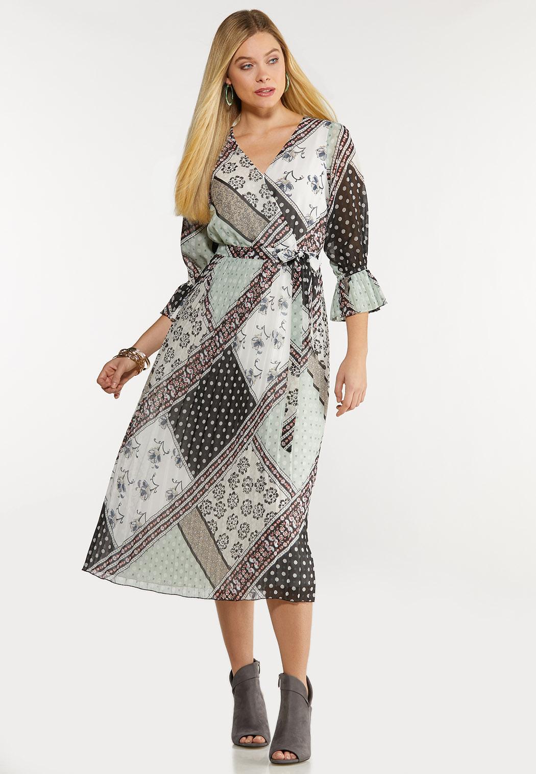 Dreamy Patchwork Midi Dress