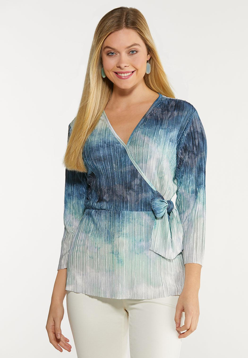 Pleated Wrap Top